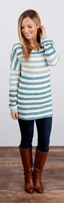 Striped Tunic Sweater! {Jane Deals}