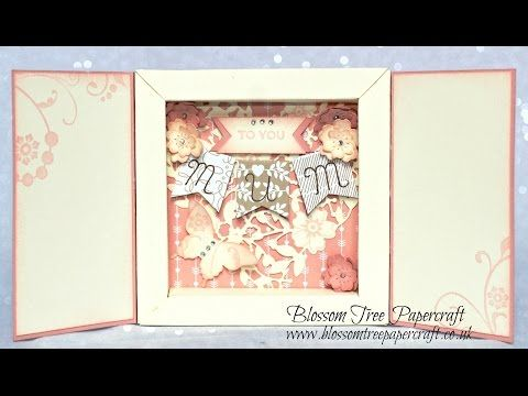 Stampin' Up! How to make the Shadow Box Card as shown on Blossom Tree Papercraft - YouTube