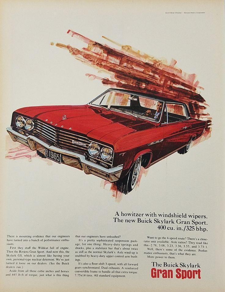 1965 Buick Skylark Gran Sport Vintage Ad
