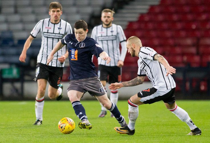 Queen's Park's Conor McVey in action during the Scottish Cup 3rd round game between Queen's Park and Dunfermline Athletic.