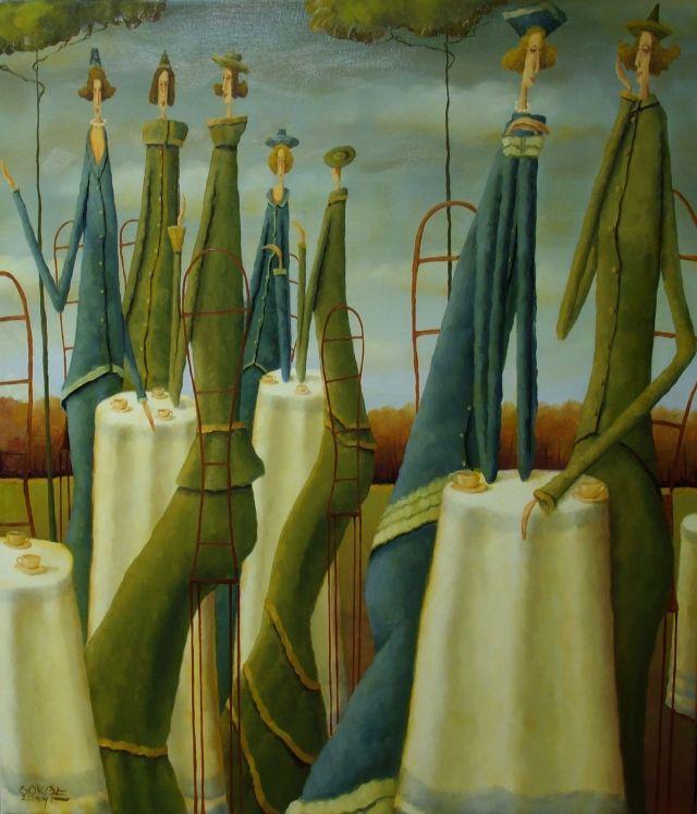 """ArtGalery ° PERSONALART.PL tytuł/title: """"Gossipes"""" autor: Leszek sokół personalart.pl/..."""