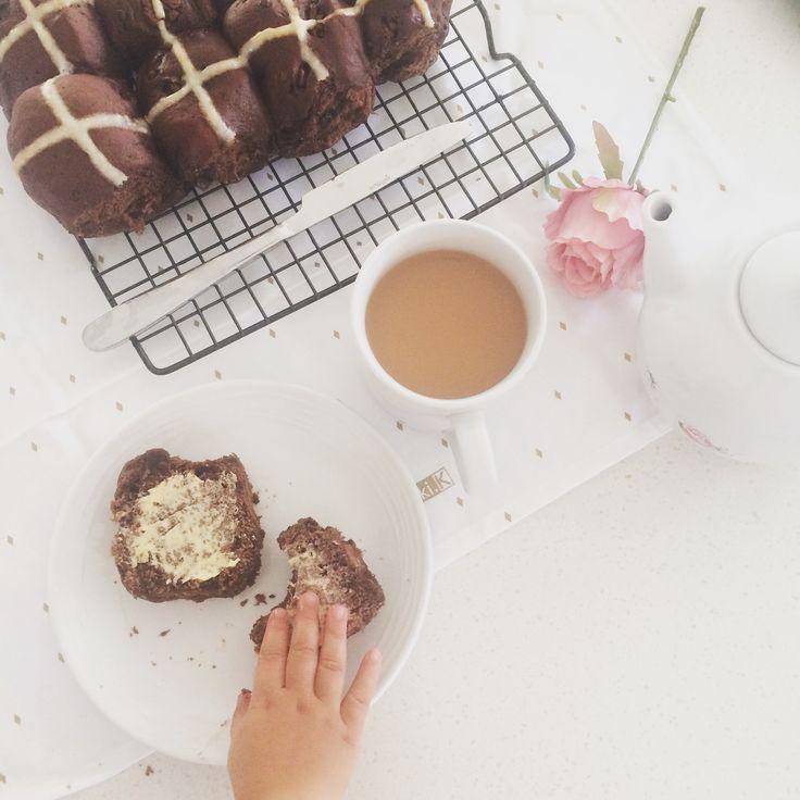 Chocolate Hotcross buns