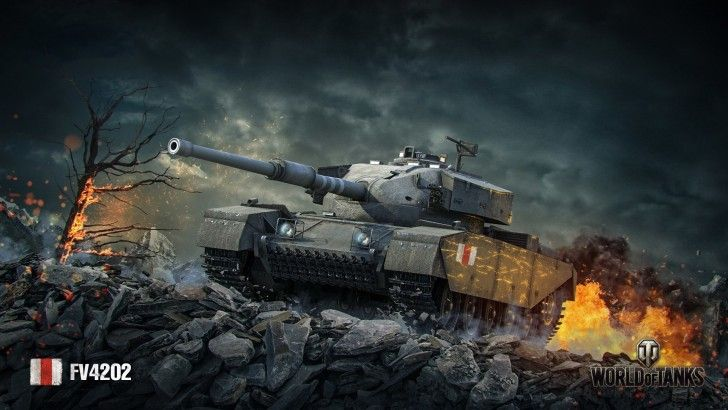Download World of Tanks Game Tank FV4202 Wallpaper 1920x1080