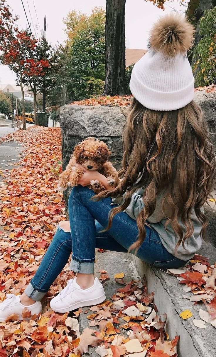 #fall #outfits ·  White Beanie // Ripped Jeans // White Sneakers