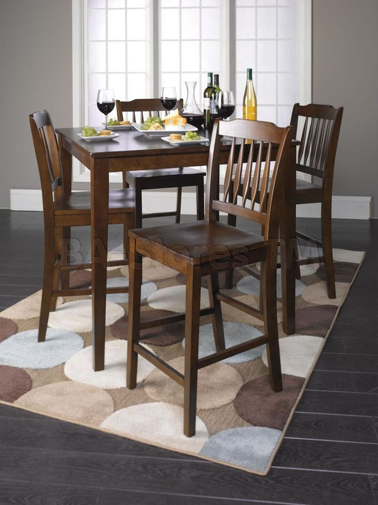 Tall Dining Table And Chairs | ... Height Dining Set (Table And 4