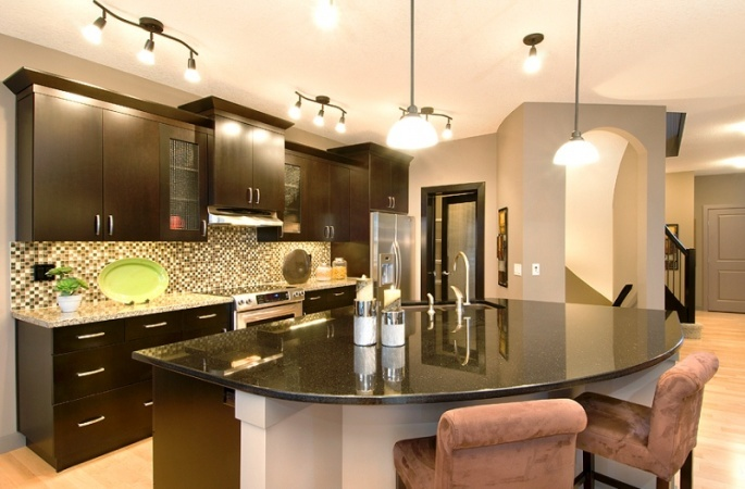 Kingston at The Hill by Broadview Homes. Click here for more #decorating & #decor ideas: http://www.broadviewhomes.com/calgary/photo-gallery #kitchen