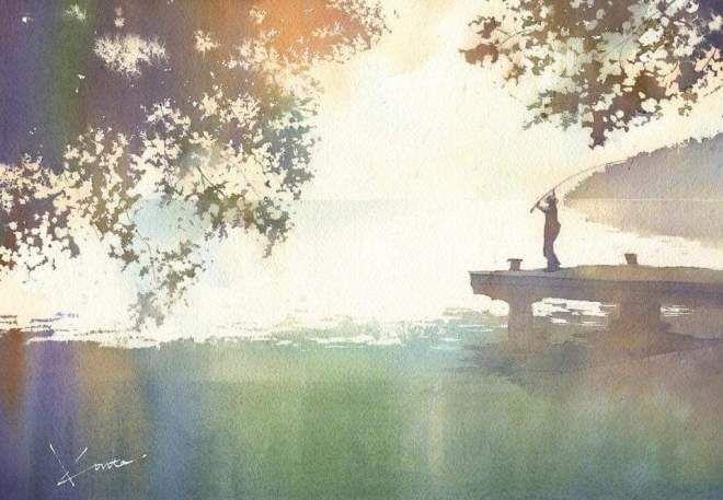 Toshiro Kamezaki Le Japon En Aquarelle Aquarelle Japon Et Paysage