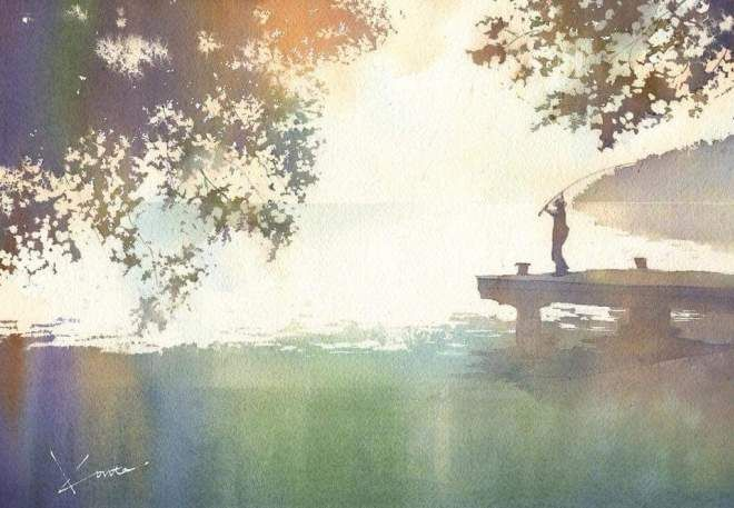 Kanta Harusaki Le Japon En Aquarelle Aquarelle Peinture