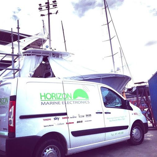 Our van at Horizon Marine Electronics in STP Palma. Our technicians are flat out working on interesting and complex projects on board both 50m and 73m ‪#‎superyachts‬, currently in ‪#‎Palma‬. HORIZON's primary goal is to provide the highest levels of Customer Service, Technical Support and Quality Project Management for ALL your Electronic requirements with in the ‪#‎SuperYachtIndustry‬. ‪#‎GettingToKnowHME‬ www.horizonme.eu