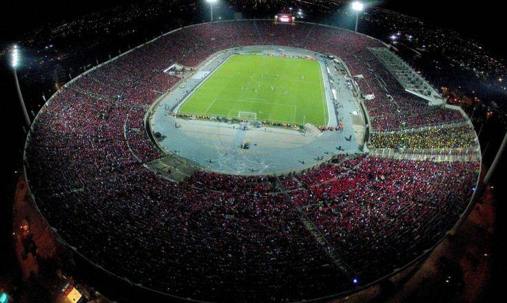 Vista aérea del Estadio Nacional donde Chile logró ante Ecuador su clasificación para el Mundial Brasil 2014.