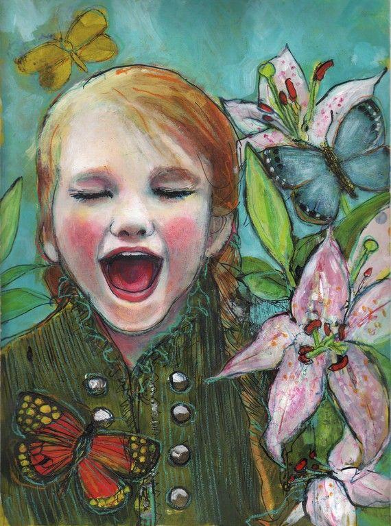 Joy- Fine Art Reproducion Block by Maria Pace-Wynters via Etsy