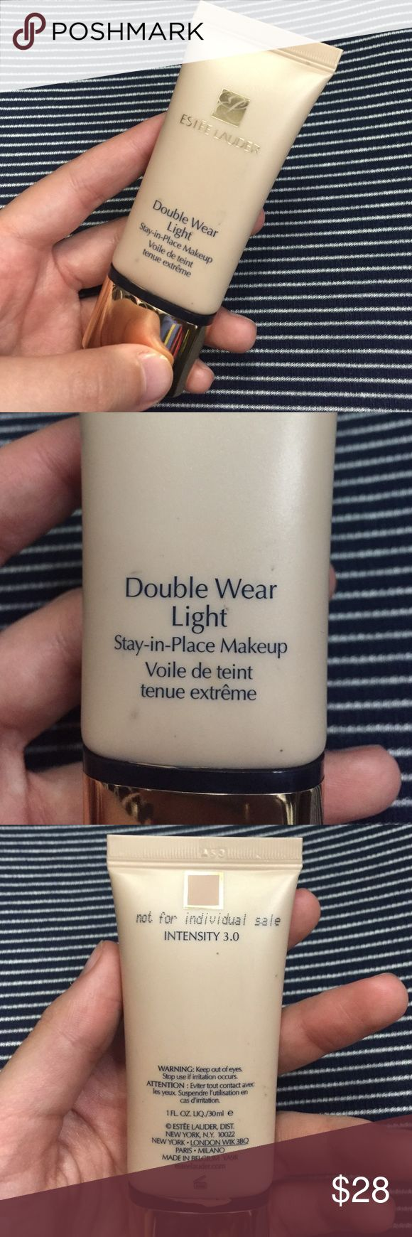 """Estée Lauder Double Wear Light Foundation Shade """"Intensity 3.0"""". No longer using this foundation so I'm selling it. Only used once or twice. Authentic. NO TRADES OR LOWBALLING Makeup Foundation"""