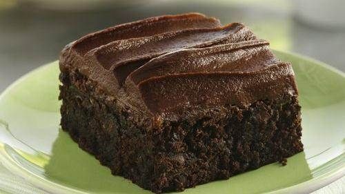 Zucchini Brownies with Fudge Frosting