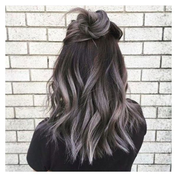 Grey Ombré Hair Is The Newest Color Trend And It's Freaking Beautiful ❤ liked on Polyvore featuring beauty products and haircare