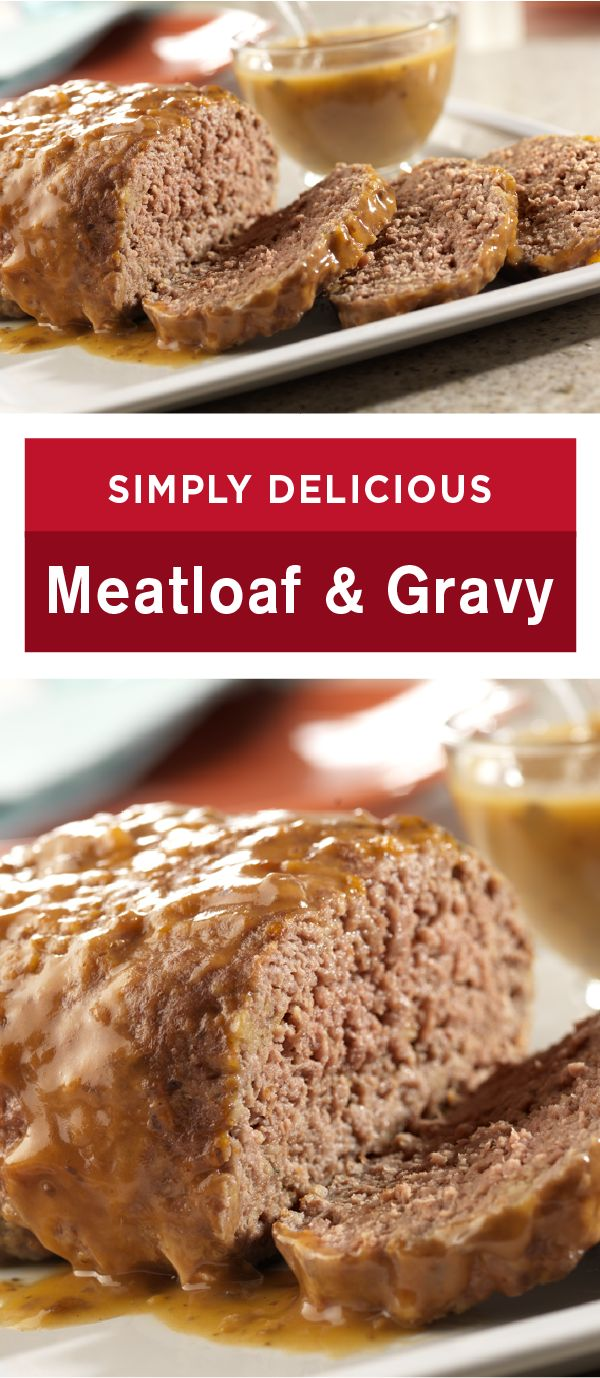 Simply Delicious Meatloaf and Gravy—the name says it all. This family-pleasing meatloaf recipe is made special and scrumptious with Campbell's Golden Mushroom Soup which makes dinner prep so easy!