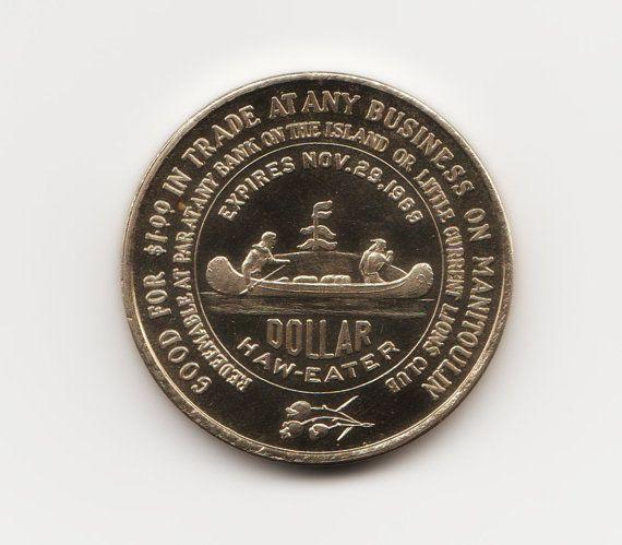 Manitoulin Island  Haweater 1969  One Dollar Coin  by HannahsStuff