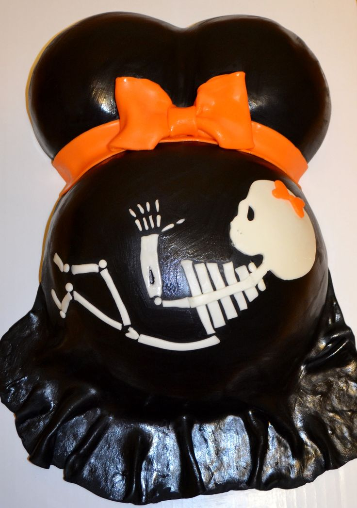 baby skeleton pregnant belly halloween baby shower cake baking