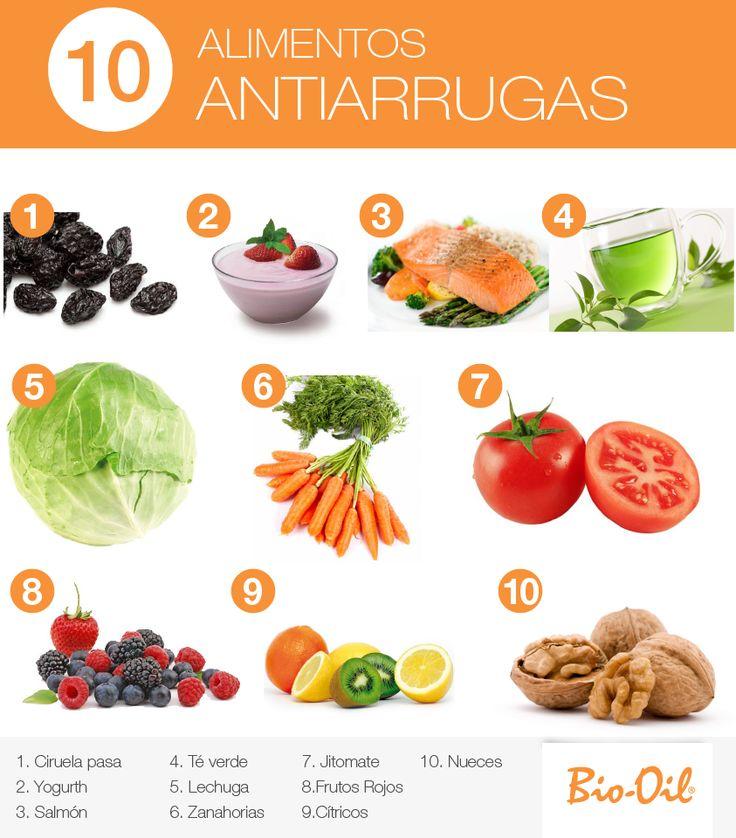 ¡10 alimentos antiarrugas! #Alimentacion #Salud #Bienestar.