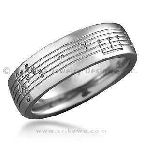 Musical Phrase Wedding Band Personalize Your Ring With A Symbolic Of Relationship 7mm Wide Bridal Pinterest