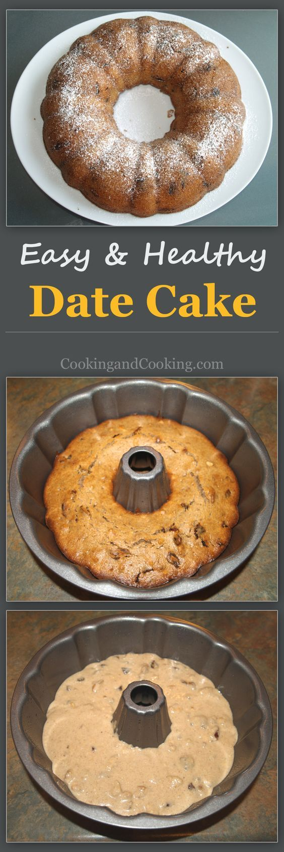 Here is a very easy to make recipe for date and walnut cake that you will use it again and again, which is perfect with coffee or tea.