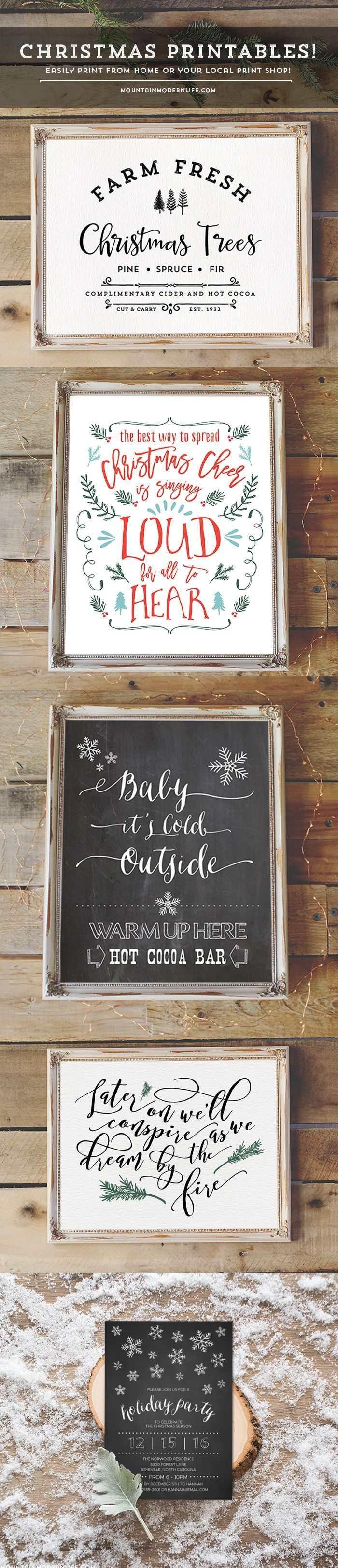 Looking for easy ways to spruce up your home for the holidays? Check out these Christmas printables you can instantly download and print! MountainModernLife.com