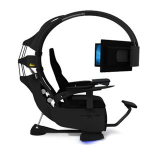 If you have $6,199.99, you can own this efficient/comfortable/ridiculous workstation. Three monitors, a comfortable chair (with a leg rest!).