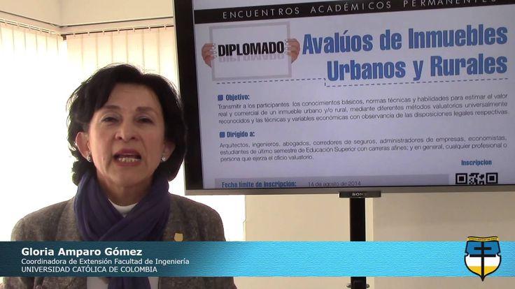 Invitación Diplomado en Avalúos de Inmuebles Urbanos y Rurales