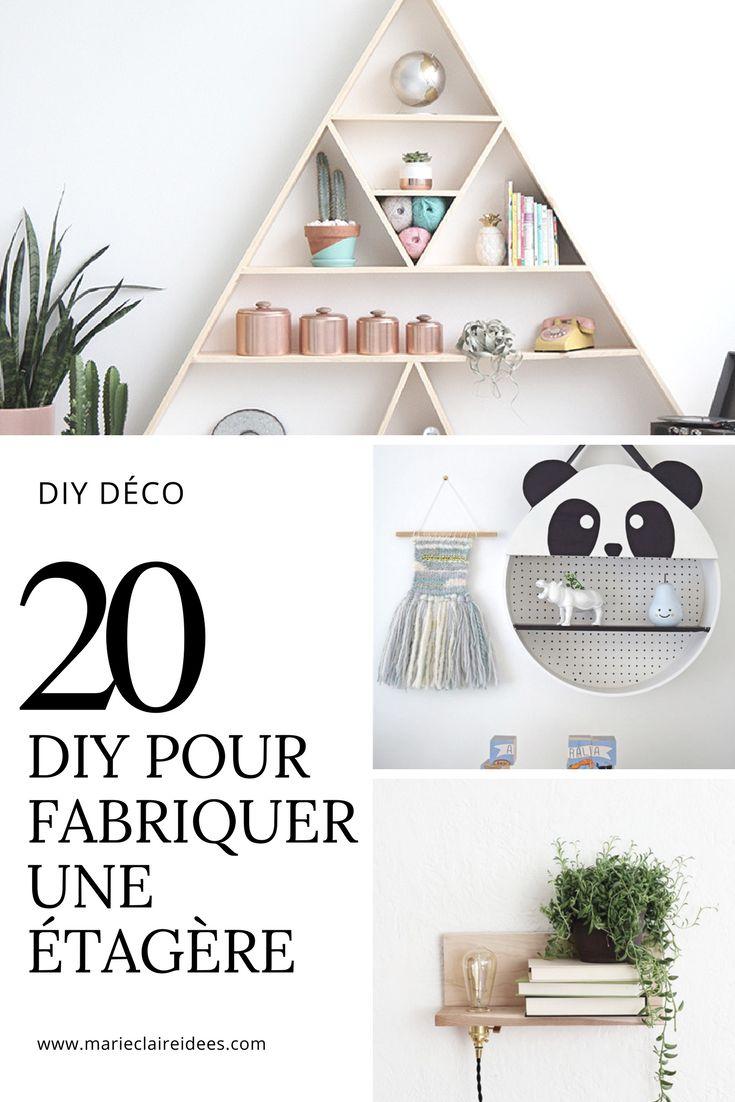 20 DIY pour fabriquer une étagère / diy déco / diy étagère