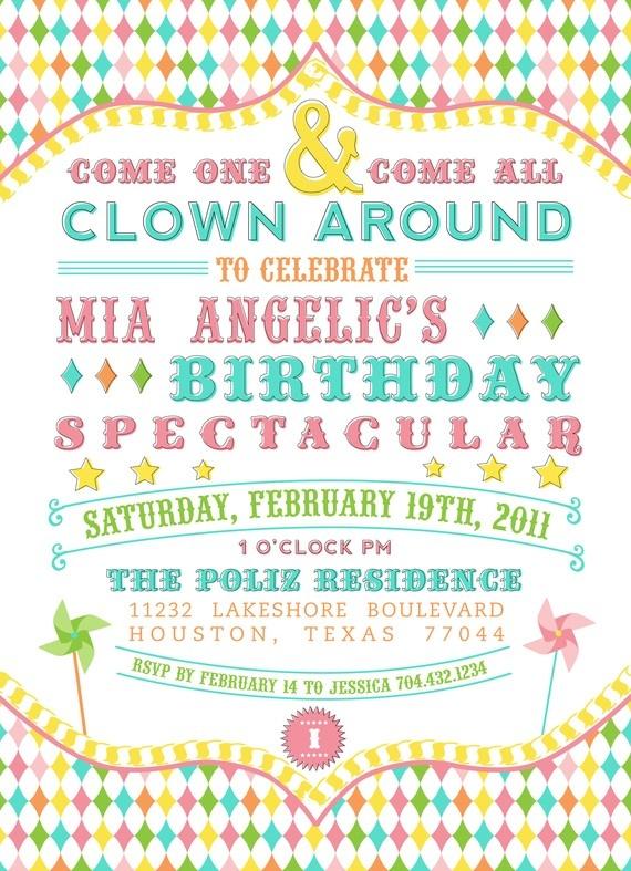 Mer enn 25 bra ideer om Carnival birthday invitations på Pinterest - birthday invitations free download