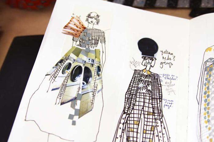 Fashion Sketchbook fashion sketches; markmaking; mixed media drawings // Hayley Grundmann