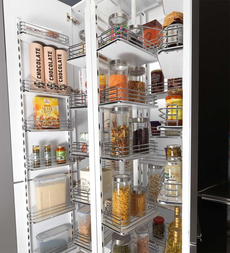 Pantry Unit- Engineered for a contemporary Indian kitchen, the Pantry unit is an ideal way to store the characteristic mix of containers that are found only in Indian milieu. With its Swing-Pull-Swivel mechanism, you can store and retrieve things the way you want in a particular hierarchy. The ultrasmooth open-and-shut actions are an added advantage of this unit thanks to its SoftClose system which is designed in tandem with international standards.