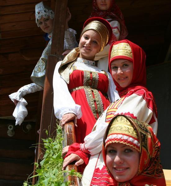 Русская народная музыка для показа мод национальных костюмов