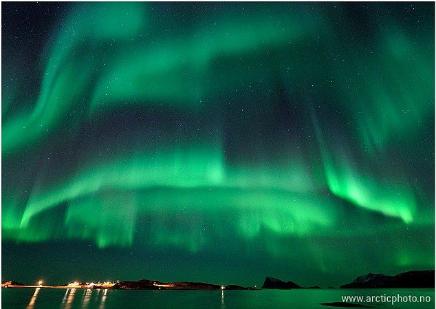 Canada and Norway have seen some of the most spectacular activity this week    Read more: http://www.dailymail.co.uk/sciencetech/article-2091117/The-midnight-phoenix-rises-Biggest-solar-storms-seven-years-create-spectacular-northern-lights.html#ixzz1kX3q5txi