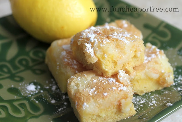 Lemon Cake Bars -plus some other easy CAKE MIX recipes!!!! :)