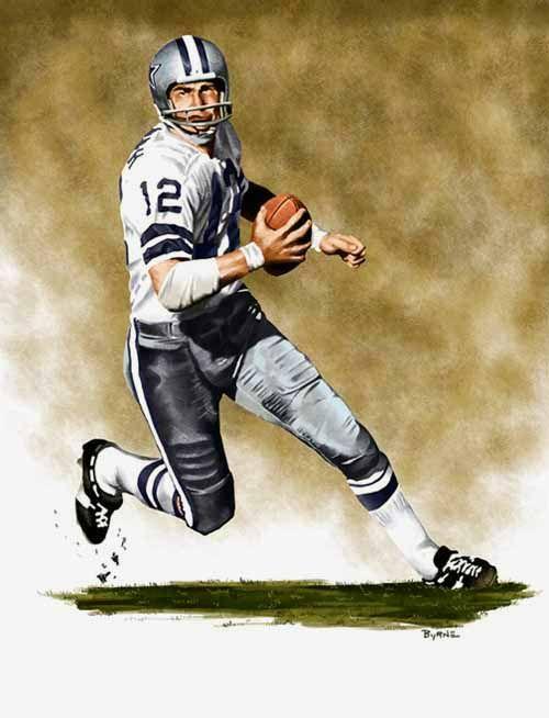 Roger Staubach Dallas Cowboys by James Byrne