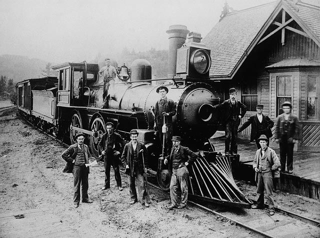 Locomotive no 7, Ottawa and Gatineau Valley Railway. (Mention : Bibliothèque et Archives Canada / PA-164656)