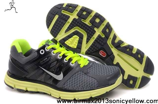 Wholesale Cheap 407648-008 Gray Fluorescence Green Mens Nike Lunarglide 2 Shoes Store