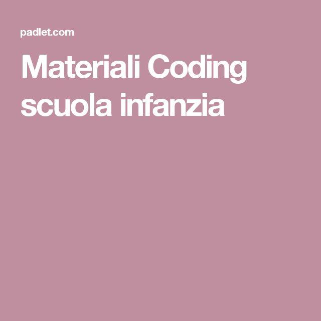 Materiali Coding scuola infanzia