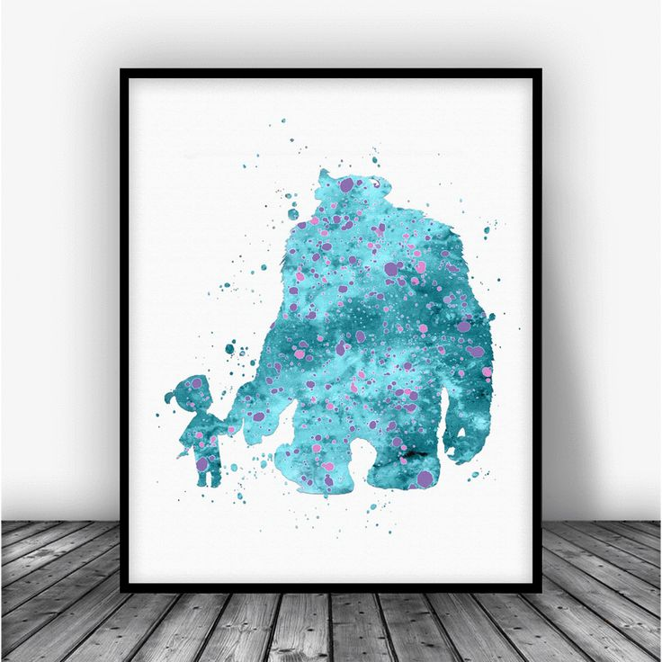 Boo and Sully Monsters Inc Art Print Poster by Carma Zoe From $10.00