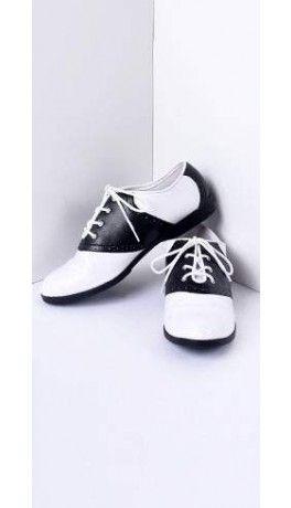 Black & White Classic Lace Up Saddle Shoes