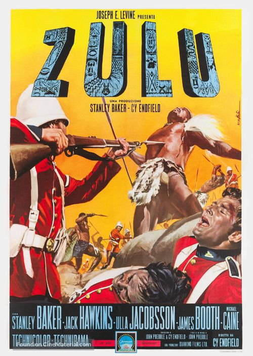 Zulu Italian Movie Poster Manifesti Nistri Pinterest