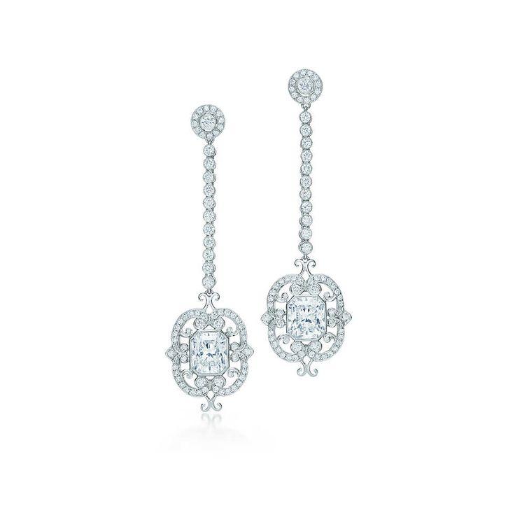 738e87ecc Lucida® diamond drop earrings in platinum.   Tiffany & Co.