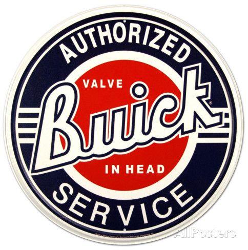 Buick Service Placa de lata