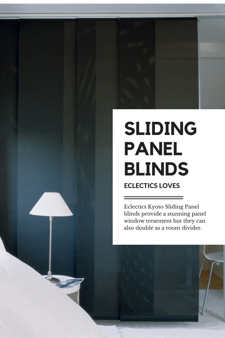 Vertical blinds enhance sliding doors and larger windows into stylish - Channel The Monochrome Trend With These Black Sliding Panel Blinds They Not Only Look Stylish