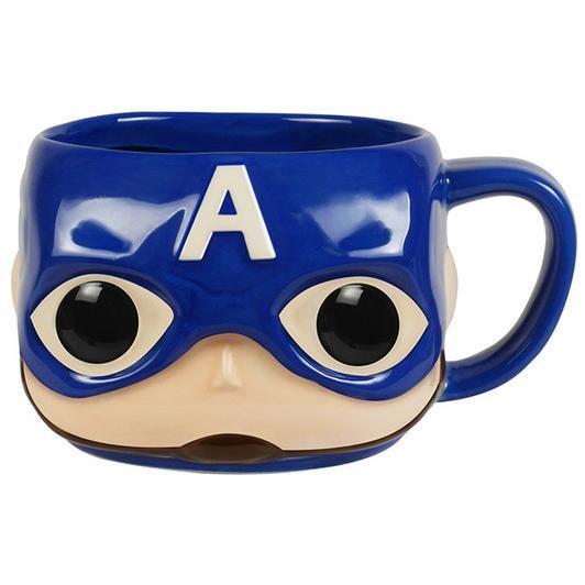 Tazza #CaptainAmerica della collezione Pop! Home. Capienza: 350 ml circa.