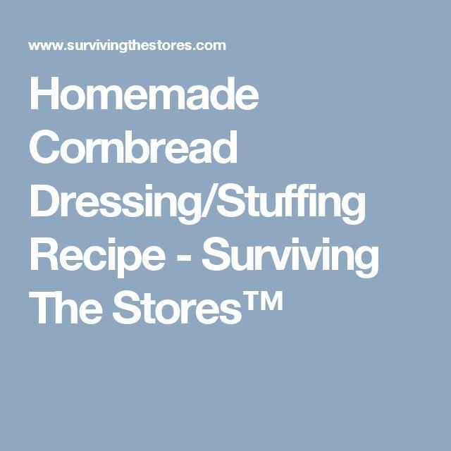 Blue cornbread dressing