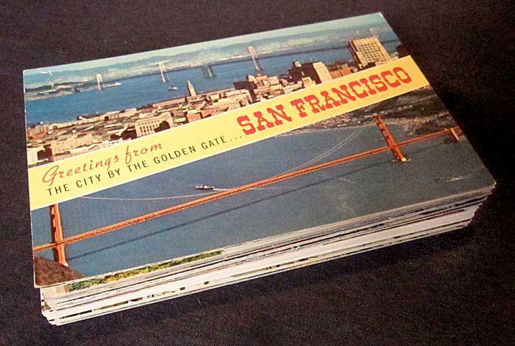 60 San Francisco, California Vintage Postcards - Travel Themed Wedding Registry (Unused). $49.75, via Etsy.