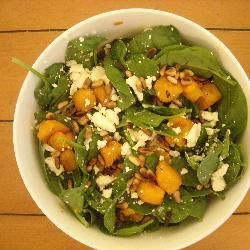 Roast Pumpkin, Baby Spinach & Fetta Salad