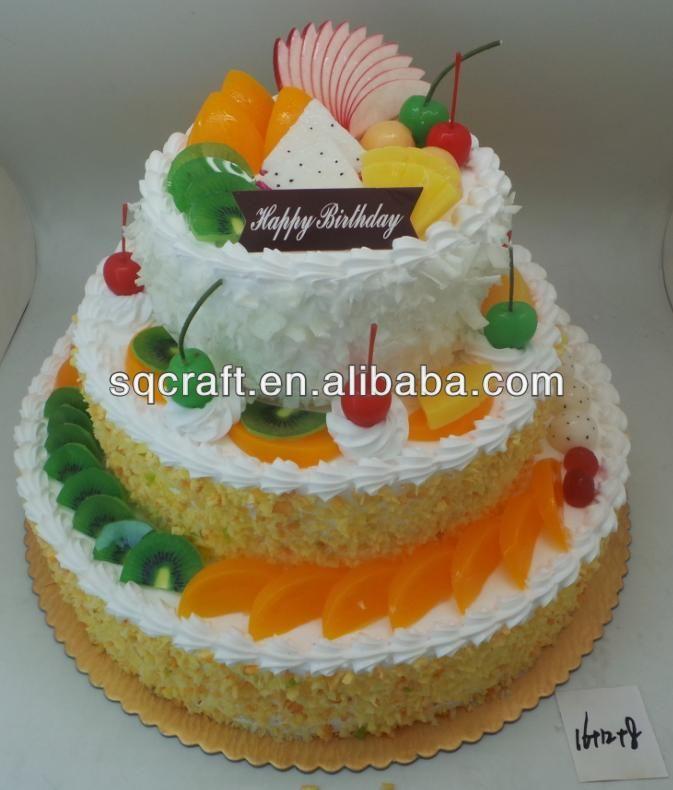 3 lapis palsu / boneka Model kue ulang tahun