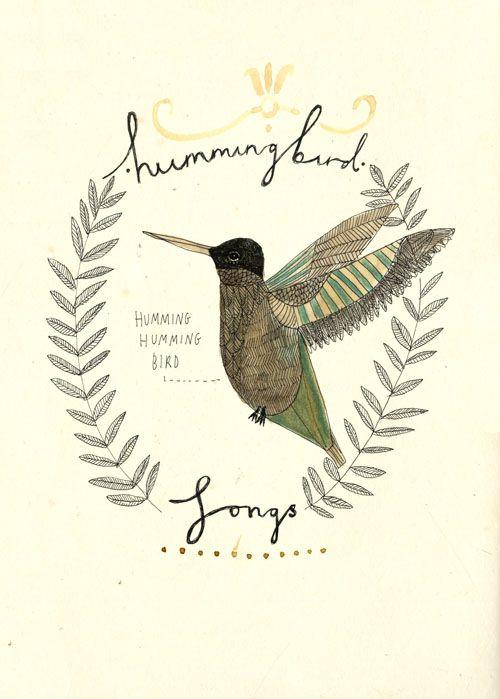 The hummingbird.